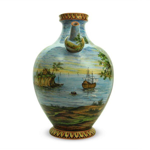 55cit_otre-con-becuccio-in-ceramica-artigianale-paesaggio-mare-e-nave_ceramiche-liberati