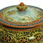 Vaso da farmacia in ceramica artigianale Paesaggio, Ceramiche Liberati