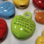Campanelle a forma di cuore in ceramica Ceramiche Liberati