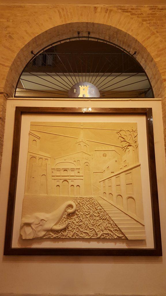 Scultura d'autore in ceramica di Giuseppe Liberati per Ripa Teatina, Ceramiche Liberati