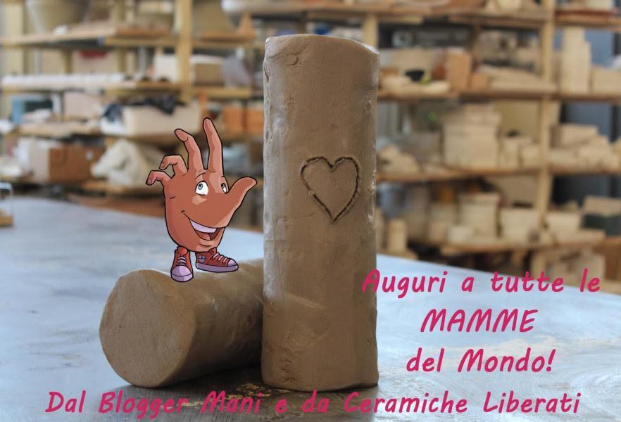 Festa della mamma Mani e argilla Ceramiche Liberati