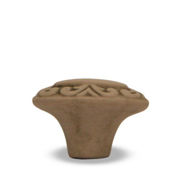 03GA24B_Pomello in ceramica Acanto anticato