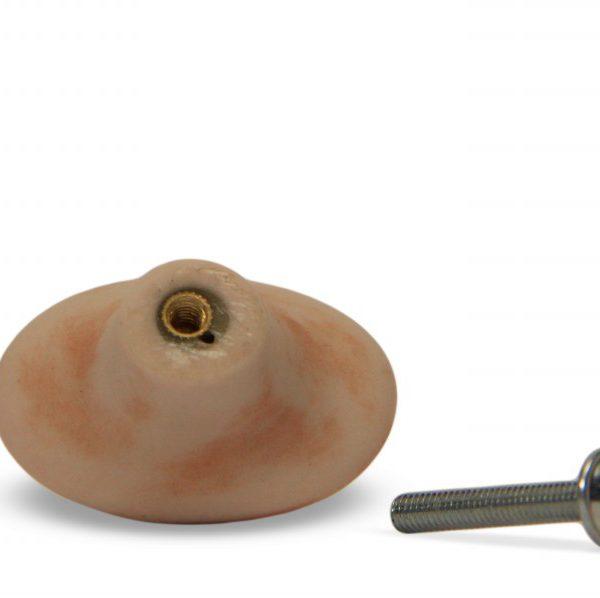 03GRB24_Pomello in ceramica pattinata rosato Acanto con vite_Ceramiche Liberati
