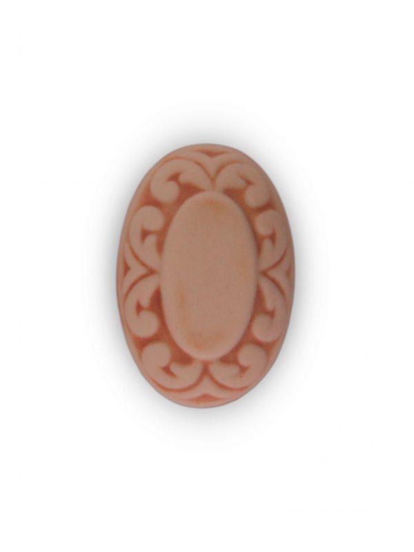 03GRB24_Pomello in ceramica pattinata rosato Acanto top_Ceramiche Liberati