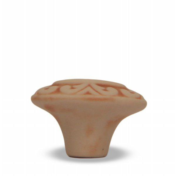03GRB24_Pomello in ceramica pattinata rosato Acanto_Ceramiche Liberati