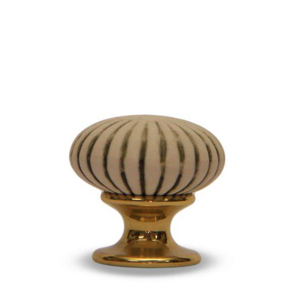 06GAB24O_Pomello in ceramica anticato Astra ottone