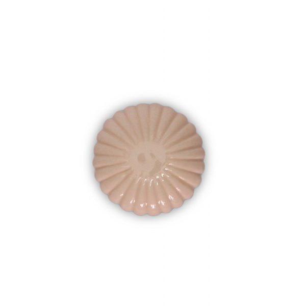06PRS24_Pomello in ceramica maiolica modello Astra rosato base in cromo_Ceramiche Liberati