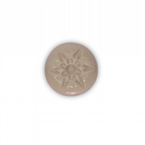 07PAB24_Pomello in ceramica porcellana italiana Stella effetto bianco base in ottone_Ceramiche Liberati
