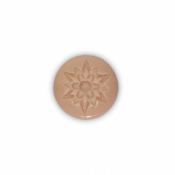 07PRS24_Pomello in ceramica porcellana italiana Stella effetto rosato base in ottone_Ceramiche Liberati