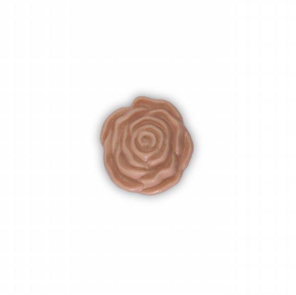 09PRO24_Pomello in porcellana Made in Italy modello Rosa effetto rosato_base ottone_Ceramiche Libeari