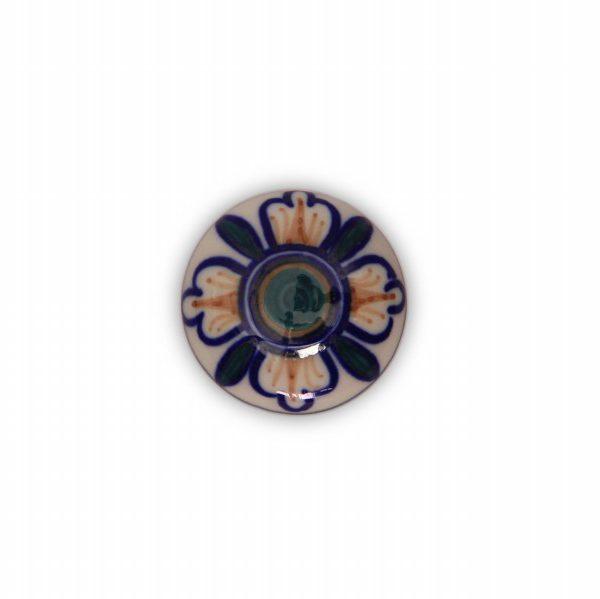 23PDS24_Pomello in porcellana Made in Italy decoro Fiorami_Ceramiche Liberati