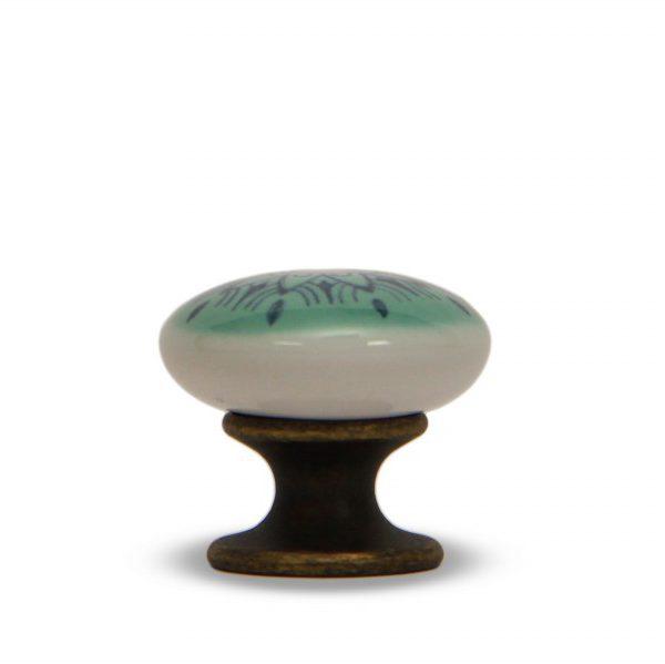 46PMD24B_Pomello in ceramica con la stampa digitale decoro Oriente base bronzo_Ceramiche Liberati