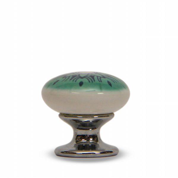 46PMD24C_Pomello in ceramica con la stampa digitale decoro Oriente base cromo_Ceramiche Liberati