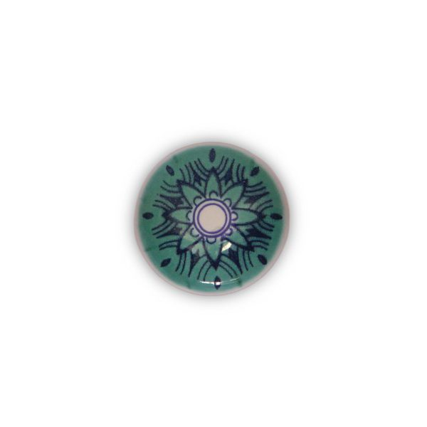 46PMD24_Pomello in ceramica con la stampa digitale decoro Oriente_base cromo_Ceramiche Liberati