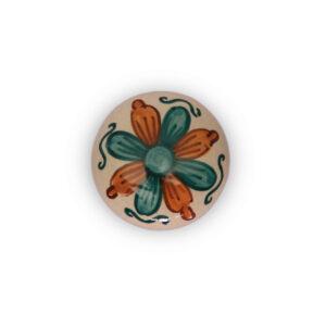 66GMV24_Big glazed knob Creta verde