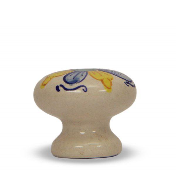 66MMB24_Pomello in ceramica artigianale italiana con decoro Creta di Ceramiche Liberati