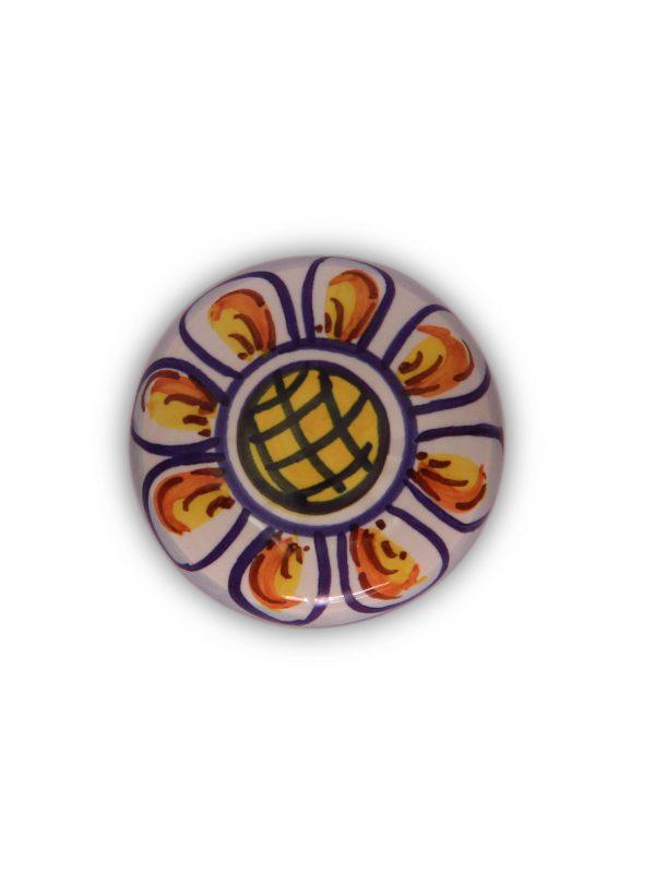 69GMD24_Pomello Gaia dipinto a mano top_Ceramiche Liberati