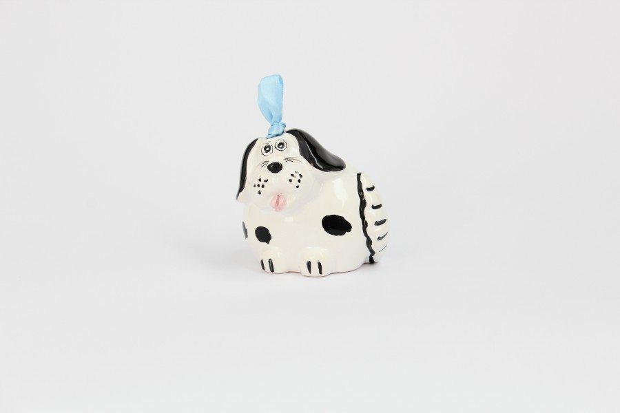 campanella in ceramica artigianale a forma di Cane. Ceramiche Liberati