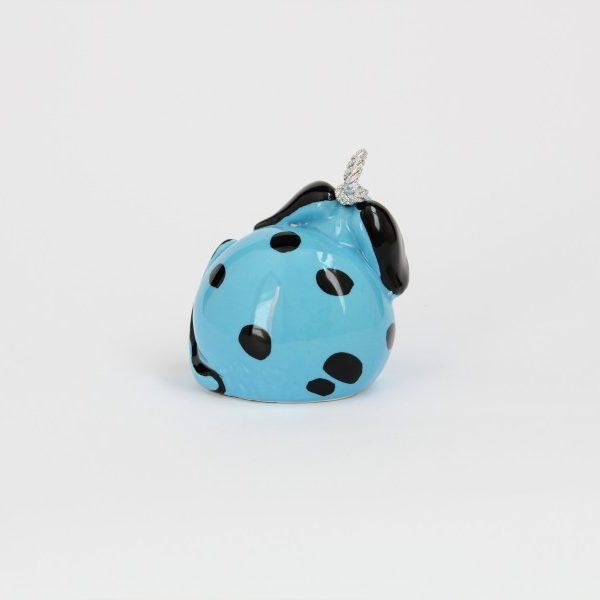 06CAM-T_Campanella in ceramica Cane blu e nero retro_Ceramiche Liberati
