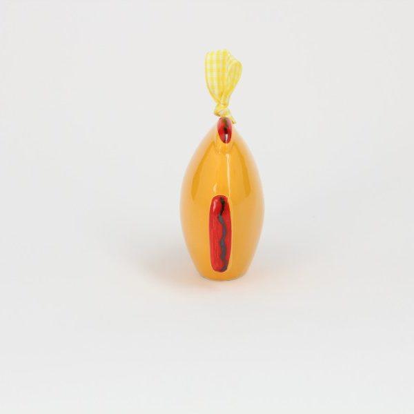07CAM-AR_Campanella in ceramica Pesce felice arancio e rosso_Ceramiche Liberati