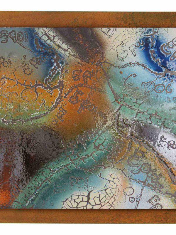 Pannello in ceramica moderna e contemporanea di Giuseppe Liberati