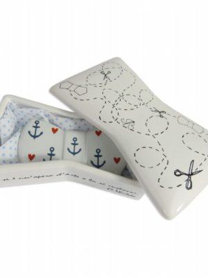 Scatola papillon di ceramica per papillon in ceramica di Ceramiche Liberati