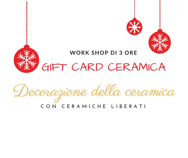 Gift Card regalo Decorazione della ceramica con Ceramiche Liberati Abruzzo