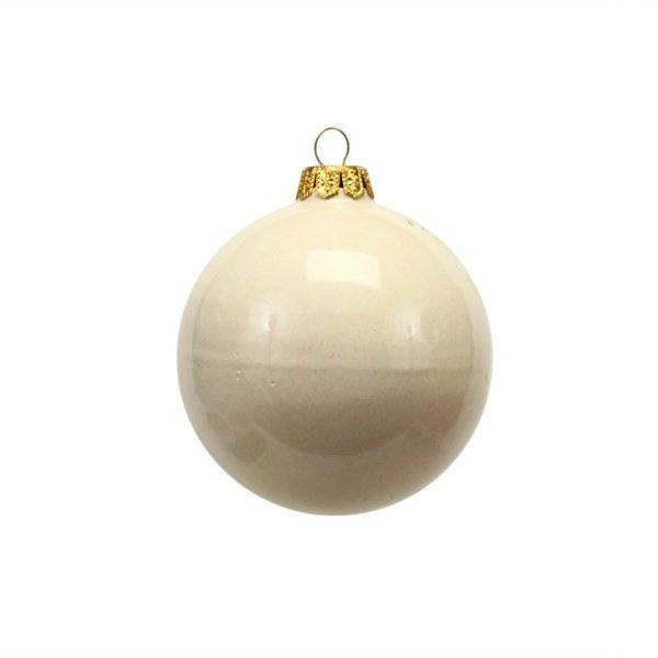 Pallina natalizia con lanterna dipinta a mano di Ceramiche Liberati