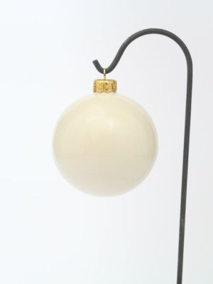 "Hand-painted, Italian ceramic Christmas ball ""Christmas candle"" by Ceramiche Liberati"
