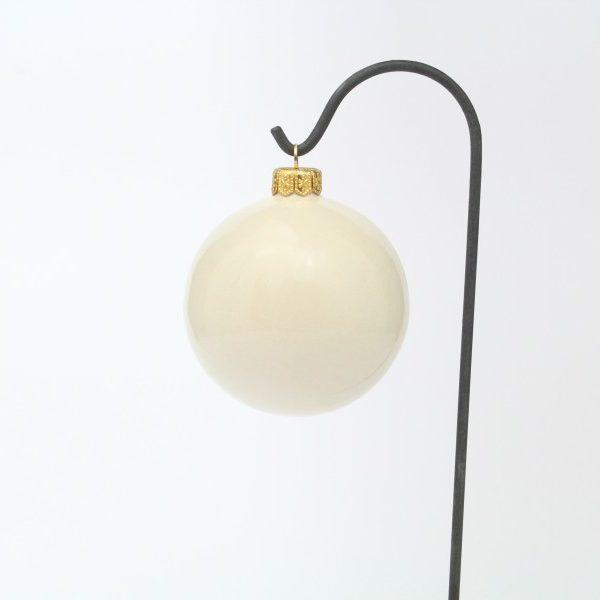 Pallina in ceramica italiana artigianale con Candela natalizia di Ceramiche Liberati