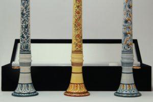 Strumenti musicali natalizi-zampogne e ciaramelle in ceramica italiana_Ceramiche Liberati