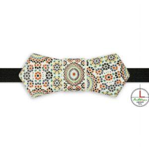 Papillon in ceramica italiana modello Evo decoro Maiolic di Ceramiche Liberati