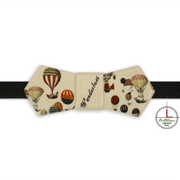 Papillon ceramica originale modello Evo decoro Wanderlust avorio di Ceramiche Liberati
