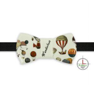 Papillon ceramica artigianale modello Romantico con decoro Wanderlust di Ceramiche Liberati