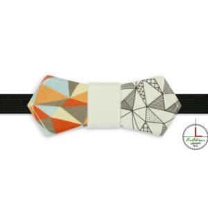Papillon in ceramica modello Evo decoro Ipotenusa Bicolor di Ceramiche Liberati