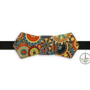 Papillon in ceramica unisex modello Evo decoro mandala a colori di Ceramiche Liberati