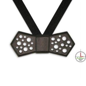 Papillon in ceramica unisex modello Evo Traforato colore nero di Ceramiche Liberati