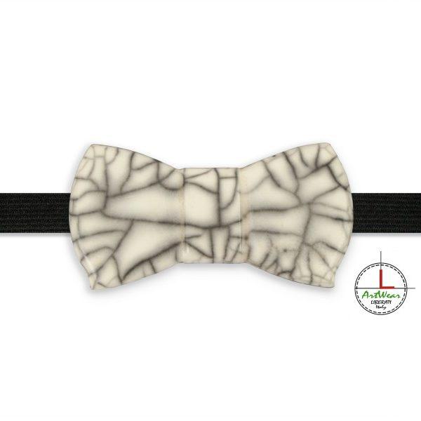 Papillon in ceramica unisex modello Romantico tecnica raku di Ceramiche Liberati