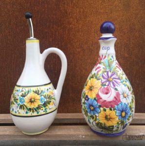 Bottiglie in ceramica per l'olio d'oliva di Ceramiche Liberati