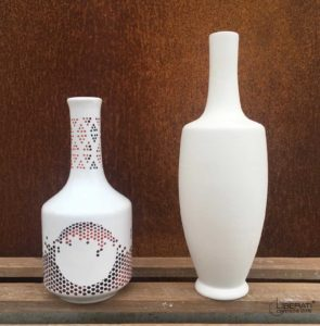 Bottiglie in ceramica per l'olio d'oliva, bottiglie d'autore