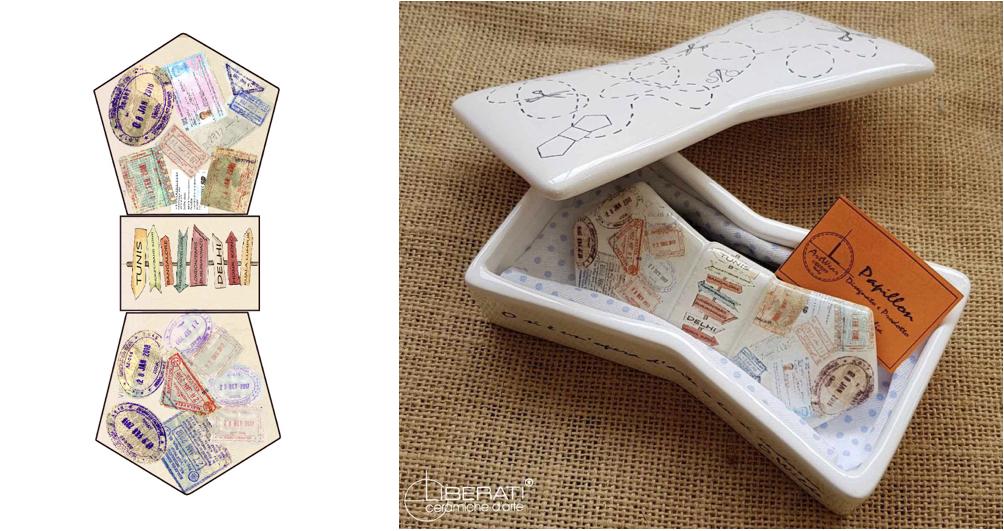 Papillon in ceramica italiana Ceramiche Liberati