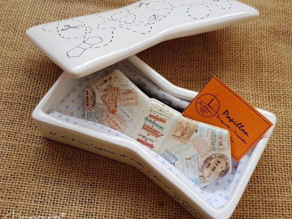 Papillon personalizzato in ceramica artigianale Ceramiche Liberati