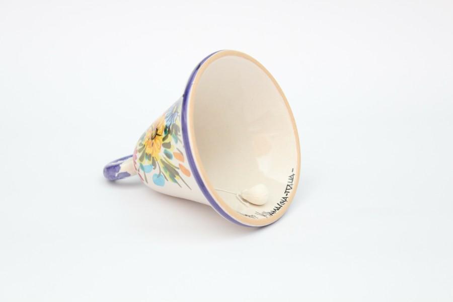 Campanella in ceramica artigianale decoro Fioraccio