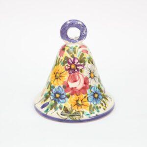 Campanella in ceramica Fioraccio dipinto a mano