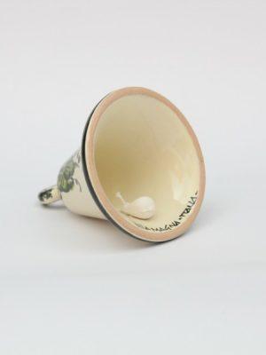 Campanella in ceramica Melograno dipinto a mano