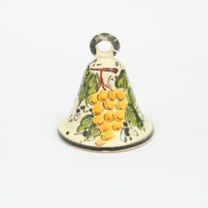 Campanella in ceramica Uva bianca decorato a mano
