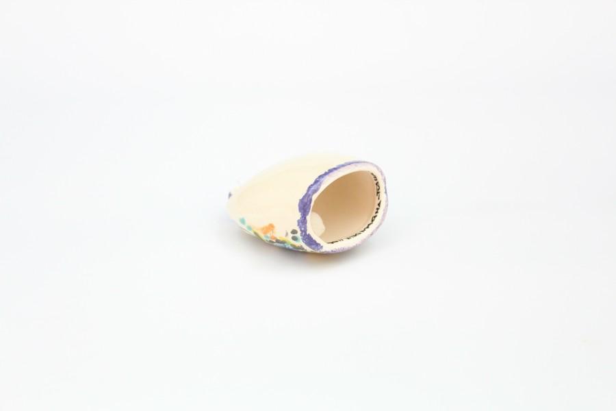 Campanaccio in ceramica artigianale dipinto a mano