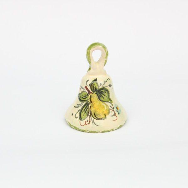 Magnete campanella in ceramica con decoro Pena dipinto a mano