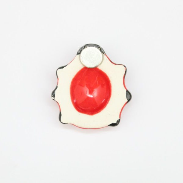 Magnete da frigo Coccinella in ceramica