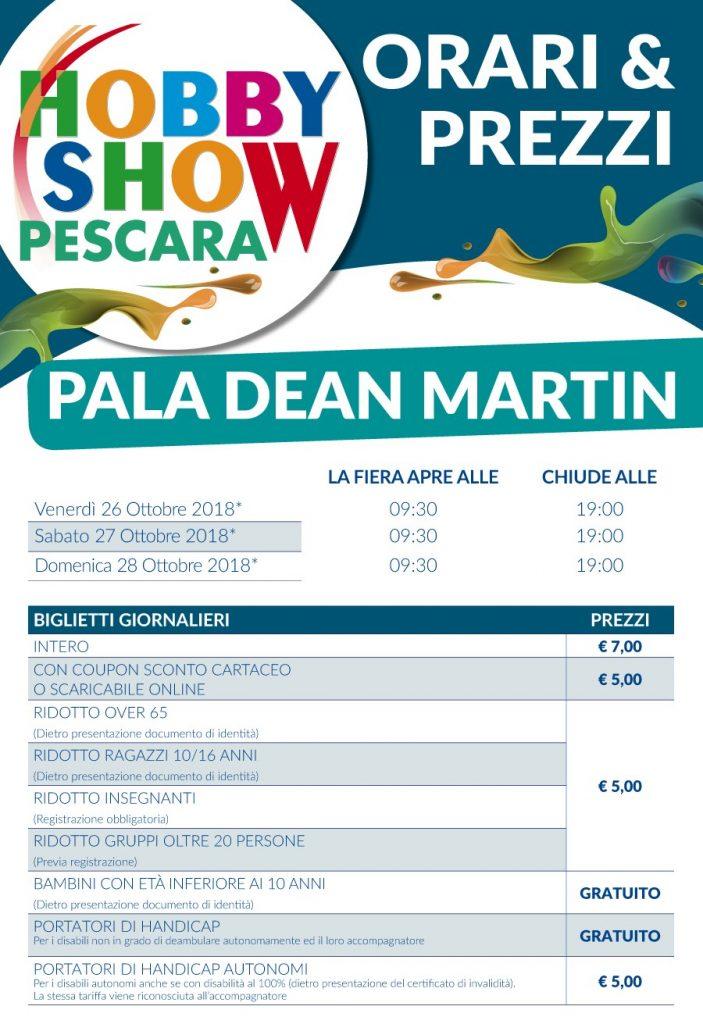 Orari e prezzi Hobby Show Pescara 2018